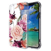 Cases For Iphone 12 12pro 12promax XS XR XSMAX 8 8plus TPU +PC +Acrylic pattern 2 in 1 Back cover Shell Oppbag