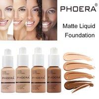 العلامة التجارية الشهيرة الوجه ماكياج مؤسسة phoera ماتي السائل الأساس 10 ألوان المخفي لينة ماتي النفط التحكم الطويل