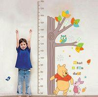 Salonu Çocuk odası Pretty Ev Dekorasyonu Duvar Çıkartması Çocuk Boy Ölçümü Ağacı Ayı Baykuş Çıkarılabilir Duvar Etiketler Soğuk
