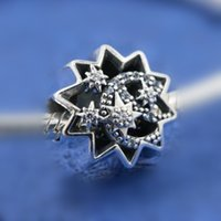 DIY Loose Bead 100% 925 plata esterlina cuando lo desee sobre un encanto de estrellas adapta a Pandora estilo europeo joyas pulseras collares colgante