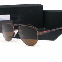 1 قطع عالية الجودة العلامة التجارية الشمس نظارات الأدلة النظارات الشمسية مصمم نظارات نظارات رجالي إمرأة مصقول نظارات شمسية تأتي مع صندوق القضية