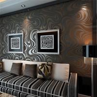 Caliente 3D Mural Rollo de pared Moderno Estéreo Papel tapiz Papel tapiz Rolls Papel de Parede Espolvorea de oro Murales Damasco Non-tejido Papel de pared