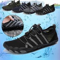 Erkekler Kadınlar Dayanıklı Sneakers Açık Tırmanma Yürüyüş Spor Ayakkabı Kaymaz Düz 2020 Unisex Wading Su Sneakers Ayakkabı