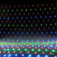مصابيح 8M * 10M 6M * 4M 3M * 2M 2M * 2M 1.5M 1.5M * LED MeshString صافي سقف الأنوار حفل زفاف عيد الميلاد في الهواء الطلق الديكور