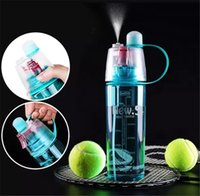 Creative Clear Plastic Spray Drinking Water Bottle, Outdoor ...