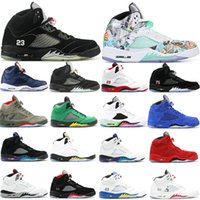 Jumpman 5 Basketball Running Shoes 5S Sneakers Shattered Bac...