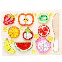Wooden Classic Game Simulation Kitchen Series Toys Cutting F...