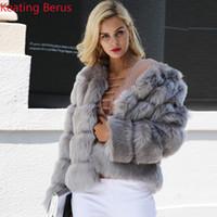 키팅 베루스 여성의 가짜 모피 가짜 모피 겨울 코트 패션 셔츠 여성의 슬림 우아한 따뜻한 의류 0616
