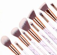 10pcs / set Marble Makeup Brushes Blush Powder Sopracciglio Eyeliner Highlight Concealer Contour Foundation Make Up Brush Set