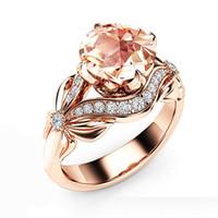 Anelli di nozze d'oro rosa farfalla vuota per le donne Anello di fidanzamento di strass arco femminile anello gioielli zircone