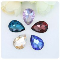 High Quality Multicolor Tear drop Loose Rhinestones Crystal ...
