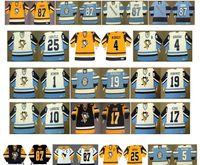 Vintage Pittsburgh Penguins Jerseys 17 RICK KEHOE 1 Denis Herron 19 JEAN Pronovost 10 Pierre Larouche 25 CARLYLE 4 Burrows CCM Hockey personalizado