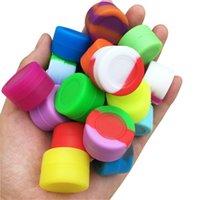 Récipients de cire de silicone pots de mini-boîtes d'huile 1000pcs / lot -3ML récipient de récipient antiadhésif de cire d'huile de silicone 26mmX17mm