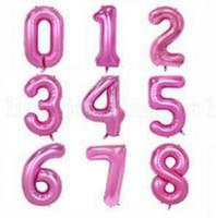 O balão de ar Hélio Número Letter Shaped do partido do evento Decoração do casamento Gold Silver inflável Ballons aniversário suprimentos 32 Inch YSY42Q