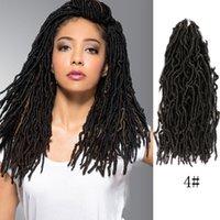 FAUX NU locs 1 confezioni dea ricci ondulato torsione all'uncinetto intrecciato sintetico estensioni per capelli Torges all'uncinetto capelli Dreadlocks 18 pollici