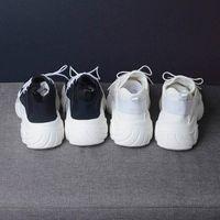 wetkiss شقق ربيع المرأة جولة اصبع القدم الأحذية حذاء رياضة Dorky أبي منصة الأحذية النسائية أحذية عالي الكعب عارضة فتاة 2019 Z07