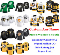 S-6XL 2020 All-Star Game Pittsburgh Penguins Hockey Jerseys Sidney Crosby Jersey Justin Schultz Tristan Jarry Matt Murray personalizado costurado