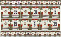 Maglia vintage Montreal Canadiens 5 GUY LAPOINTE 39 SKRUDLAND 19 LARRY ROBINSON 6 RUSS COURTNALL 35 MIKE MCPHEE 31 JOHN KORDIC Custom Hockey