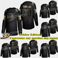 Anaheim Ducks Jersey Golden Edition 15 Ryan Getzlaf Jersey 17 Ryan Kesler Personalize qualquer número de jerseys de nome de hóquei