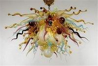 2020 سكني البحر الأبيض المتوسط الثريا الإضاءة 1 موك شكل زهرة الديكور غرفة الطعام فريد اليد في مهب فن الزجاج