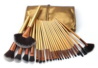 24 STÜCKE Make-Up Pinsel Professionelle Make-up Puder Erröten Lidschatten Bilden Pinsel Tool Kit Foundation Blend Kosmetik Pinsel make-up PVC tasche