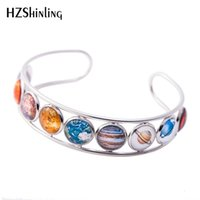 2019 New Solar System Bangle Cuff Bracelet Silver Outer Spac...