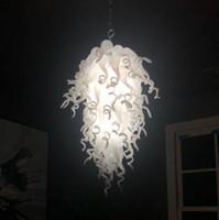 Moderne Kunst Kronleuchter Lampen Penant Licht Wohn-Esszimmer Lichter Hand Geblasenes Glas Kristall Kronleuchter für Hausdekoration