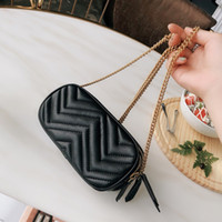 Classic wave pattern women chain camera bags crossbody bag Three zipper compartments Love package ladies single shoulder handbags purse