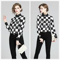 Quality Runway Tops Damen Designer Hemden Plus Größe Frauen Lantern Sleeve Mode Damen Gedruckt Blusen Slim Elegant Casual Office Shirt