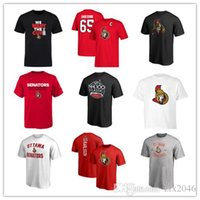 # 58 Erik Karlsson Red New Men's Ottawa Senators t-shirt Maglie sportive Top T-Shirt Designer Hockey Maglie Corto Tops Tees stampati Loghi