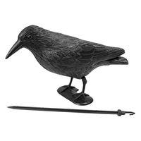 Pestcontrol 5in Siyah Crow Çığırtkan Haşere Kuş Güvercin Kontrol Kovucu Bahçe Öcü Korkuluk Ev Ev için