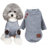 Brand Dog Clothes Knitted Button Sweater Soft Warm Pet Jacke...