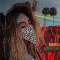 Bling d'avanguardia strass Maschera Jewlery per monili delle donne del fronte di corpo Night Club Gioielleria decorativo mascherina del partito KKA7883
