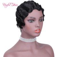 Короткие парики бразильские волосы девственницы человеческие волосы парики боб парик для чернокожих женщин бразильские нерехие волосы парик из волос с ребенком