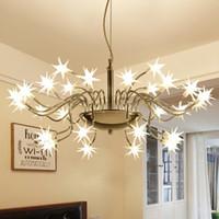 별이 빛나는 하늘 LED 펜던트 조명 현대 LED 램프 라이트 얼음 꽃 펜던트 램프 팔러 연구 바 호텔 가정용 조명