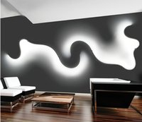 Wandleuchte Nordische LED weiß schwarz Kreatives Licht Wohnzimmer Nachttisch Schlafzimmer Innenansicht Wohnkultur Beleuchtung FedEx