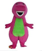 2020 wysokiej jakości Barney Dinozaur Maskotki Kostiumy Halloween Cartoon Dorosłych Rozmiar Fancy Dress