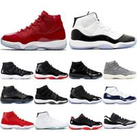 48a3c4d384d7f J11 Hombres 11s Zapatos de baloncesto AIR Concord 45 Platinum Tint 11 Space  Jam Gimnasio Rojo