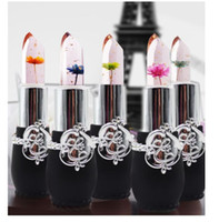 Flower Lipstick Transparent Black Bottle 6 Style Temperature...