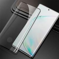 Per la galassia note10 temperato teca di vetro ai rapporti sociali di impronte digitali Sblocca schermo curvo della pellicola della protezione per Samsung S10 S9 S8 Più