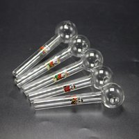 Wholesale Mini Clear Pyrex Oil Burner Glass Pipe With Cartoo...