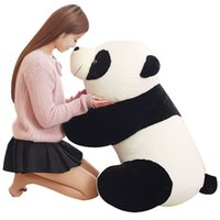 Dorimytrader Adorável Big peluches Fat Panda Plush Doll macias Bichos de pelúcia Panda Pillow Brinquedos belo presente para as crianças 3 Tamanhos DY61138