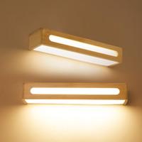 Hotel engineering wall light Nordic wood led bedroom bedside balcony aisle corridor wall lamp mirror headlights -I139