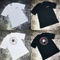 Converses classic logo round collar pure cotton short sleeve...
