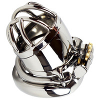 Ultra- short Stainless Steel Chastity Lock Anti off Version W...
