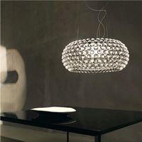 Moderna akrylhängande ljus RS7 Bulb fixtur Matsal Foscarini Caboche Dia35 / 50/65cm Klar guldhängande hängande lampa