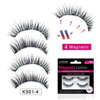 Newest Magnetic Eyelashes 4 Magnets Handmade Magnetic Lashes...