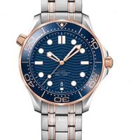 Les ventes de la série Hot hippocampique de luxe pour Homme Montres automatiques Hommes Montres Designer 300M Mouvement Montres Folding Montres-bracelets fermoir