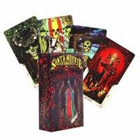 78 feuilles de Santa Muerte Tarot Cartes Pont Board Carte Game Box Party Jeux de table Cartes à jouer Family Entertainment