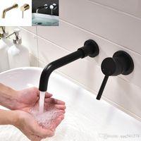 Miscelatore monocomando da bagno in ottone nero opaco per lavabo Miscelatore da bagno monocomando per lavabo caldo